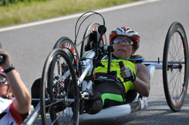 Drafting during hand cycle race