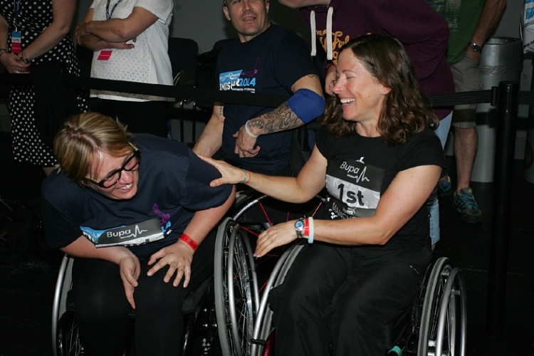 Me and Helen sharing a joke after the Great Manchester Run