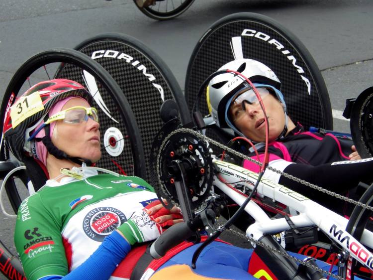Romina and I chatting before the TT