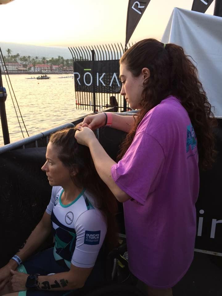 Bex plaiting my hair